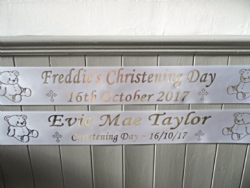 Personalised Christening Banners 2
